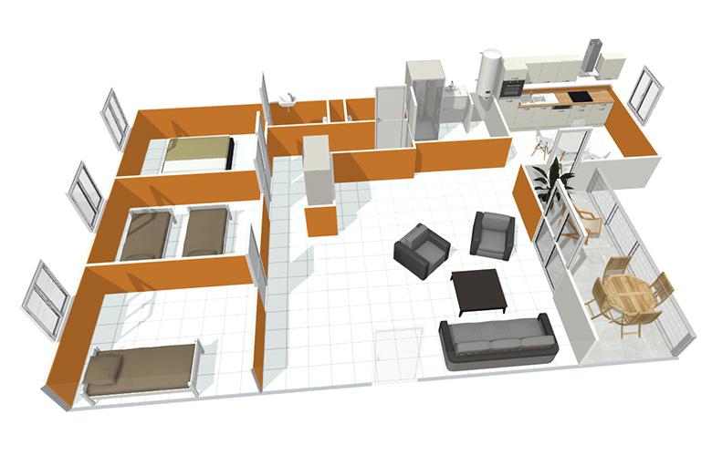 appartement chasse sur rh ne. Black Bedroom Furniture Sets. Home Design Ideas